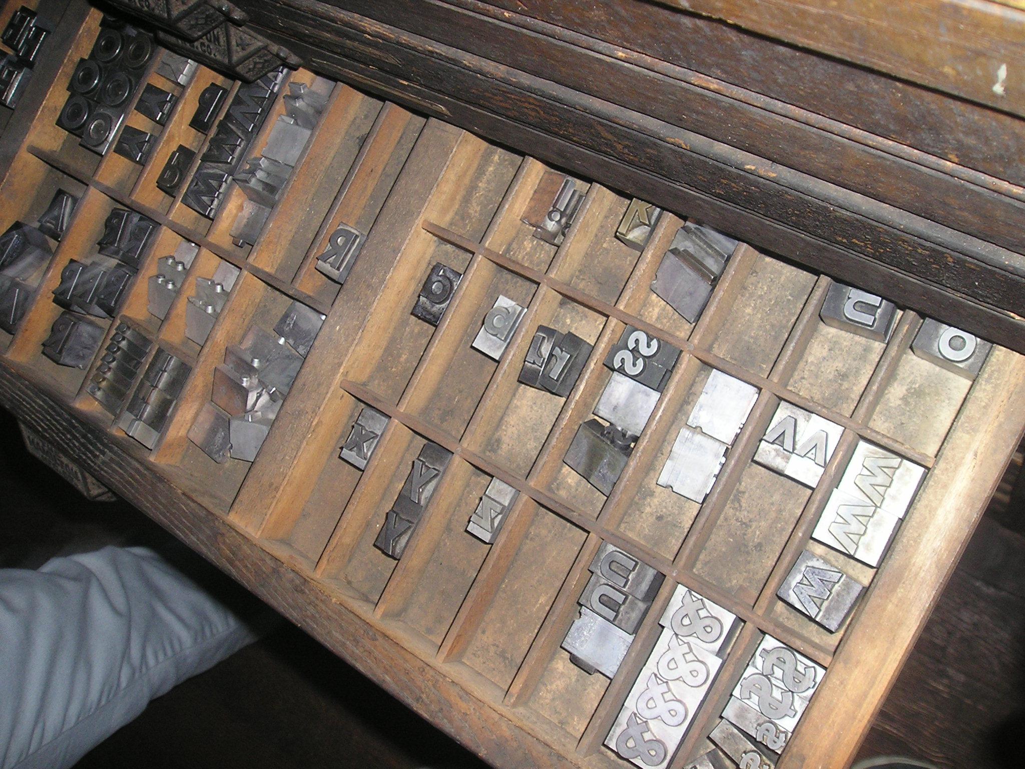 linotype machine nowadays